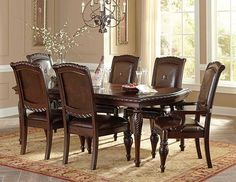 Antoinette Dining Table Set ( TABLE + 6 Chairs ) NEW!!!!! - $1949.00  Contact Jay Kemp for additional information and questions regarding warranty.  Like us on Facebook for specials that we have going on and for additional information on products check us out at http://www.knoxfamilyfurniture.net