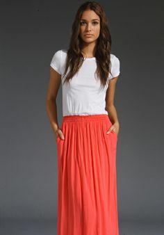 SPLENDID T Shirt Maxi Dress in Blaze at Revolve Clothing