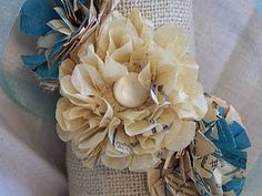 vintage pattern paper flowers tutorial at butterflyball.