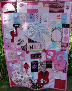 See examples of our memory quilt creations including t-shirt quilts, memorial quilts and baby clothes quilts. Quilt Baby, Onesie Quilt, Baby Memory Quilt, Memory Quilts, Shirt Quilts, Old Baby Clothes, Baby Clothes Quilt, Keepsake Quilting, Patchwork Baby