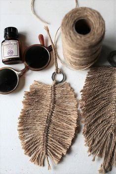 DIY: Macrame feathers, blog elsass