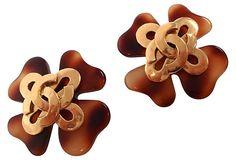 Chanel Lucite Tortoise Earrings on OneKingsLane.com