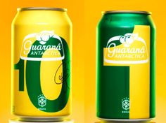 Local brand Guarana Antarctic gets into the mood Beer Packaging, Packaging Design, Soda, Fanta Can, Antarctica, Commercial Design, Energy Drinks, Canning, Neymar