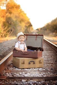 bowtie | suspenders | suitcases = so cute!