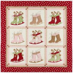 A beautiful applique quilt from Anne Sutton, Bunny Hill designs. Pattern only is $12.00 on her website