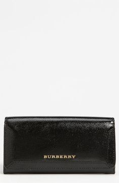 Burberry Patent Leather Wallet | Nordstrom