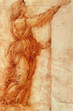 Angel, Drawing by Sandro Botticelli (1444-1510, Italy)