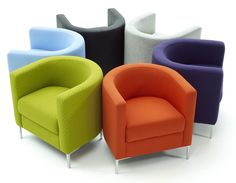This Modern Colorful Tub Chairs Designs 150x150 Living Room Chairs - Small living room chair