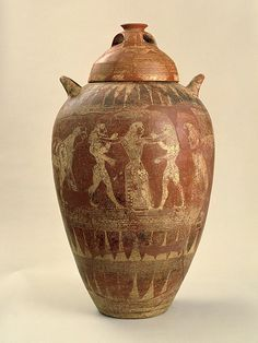 Terracotta pithos with lid, Etruria. Second half of the 7th century B.C.