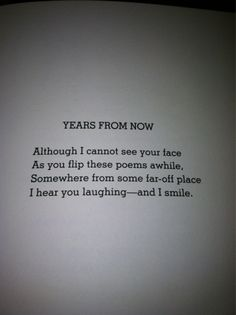 Years From Now- Shel Silverstein