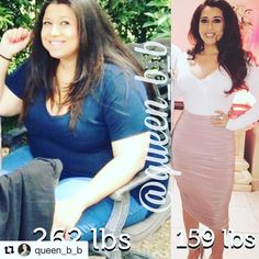 Today's InspirWeighTion from TheWeighWeWere.com {Link in bio} via REPOST @queen_b_b Happy Transformation Tuesday!!!!! So this is how I gained 100 lbs ... Every week it was a birthday party or a function at work or a stressful day or thanksgiving or Chris