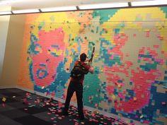 Post-It Note Mural - Marilyn