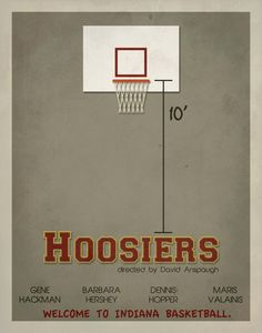 Hoosiers Minimalist Movie Poster / Indiana by EntropyTradingCo