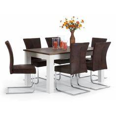 Jídelní set - dřevěný stůl se 6 houpacími židlemi Sterling