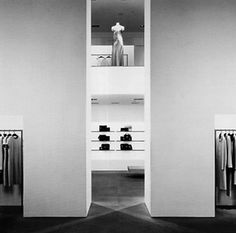 The majestic interior of the Calvin Klein flagship store on Madison Avenue.