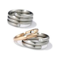 www.ORRO.co.uk - Henrich & Denzel - Diamond Platinum Wedding Rings - ORRO Contemporary Jewellery Glasgow...