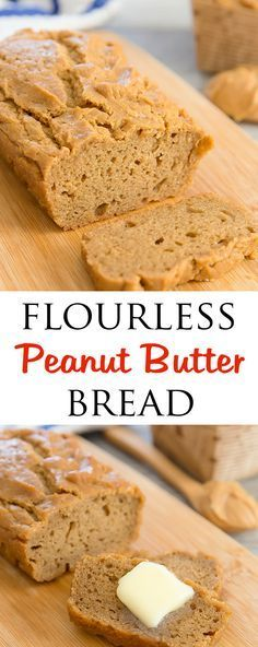 Flourless Peanut Butter Bread. Easy, low carb, gluten free. Holds together well…