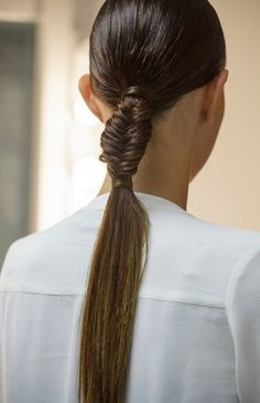 11. #Slick Braid - 11 Ways to Wear a #Ponytail so You Can Look Stylish #during Your Next Workout ... → #Hair [ more at http://hair.allwomenstalk.com ]  #Loose #Sleek #Media #Little #High