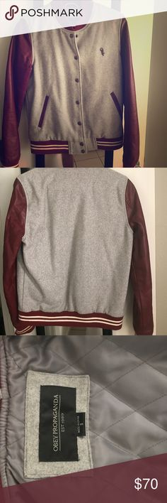 Obey Varsity Jacket Perfect condition Obey Varsity jacket. Super comfortable and in perfect condition. Only worn once. Obey Jackets & Coats