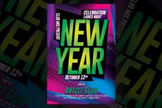 Web Design, Graphic Design, Design Art, Club Flyers, Ladies Night, New Years Party, Party Flyer, Templates