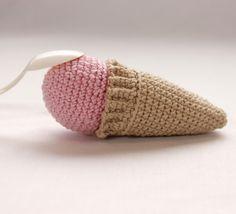 Helado de fresa de crochet, Crochet, Amigurumis, Miniaturas y muñecas, Amigurumis, Juguetes, Amigurumis