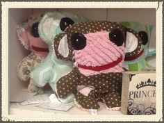 Vintage chenille monkeys , custom colours available