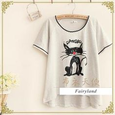 Short-Sleeve Cat Print Top from #YesStyle <3 Fairyland YesStyle.com
