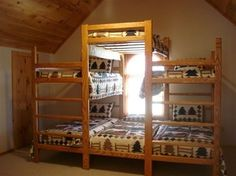 stack bunk beds...luv this for a cabin or kids cubby