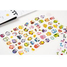 0.39$  Watch more here - Owl Giraffe Print Toys Sticker Cute Drawing Market Diary Transparent Scrapbooking Calendar Album Deco Sticker 1 Sheet CTZ08   #aliexpress