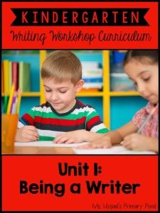 Kindergarten Writing Tips for the Beginning of the Year - Learning at the Primary Pond