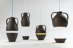 """Designer Leuchten von MEJD Studio - """"Jar"""" Pendelleuchten im Esszimmer - http://freshideen.com/mobel/designer-leuchten-mejd-studio.html"""