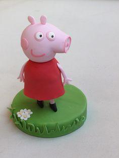 Cómo modelar a Peppa Pig paso a paso con fondant y pasta de goma