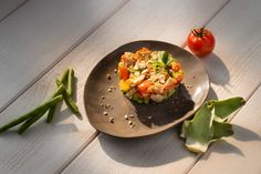 Tartare de légumes au croquant de wasabi