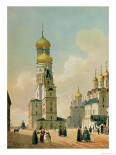 Ivan the Great Bell Tower in the Moscow Kremlin, Printed by Lemercier, Paris, 1840s Giclee Print by Felix Benoist at Art.com Russia