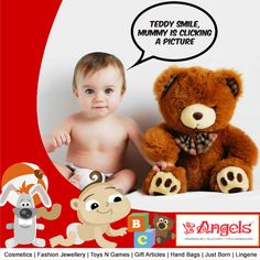 Who could be a better friend than a toy for your baby. Get soft toys of your baby's choice @ Angels Family Shop  Visit: www.angelsfamilystop.com #MakeupTip #AngelsFamilyShop #Cosmetics #FashionJewellery #GiftArticles #HandBags #JustBorn #Lingerie #ToysNGames