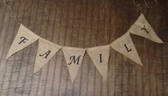 FAMILY Burlap Banner - Photo Prop, Wedding Decor, Family Reunion, Family photos, Maternity photos