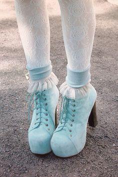 Pastel goth shoes