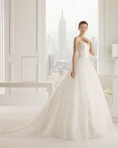 Rosa Clara Wedding Dresses 2015 Collection Part I. To see more: http://www.modwedding.com/2014/07/16/rosa-clara-wedding-dresses-2015-collection-part/  #wedding #weddings #wedding_dress