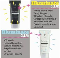 Face wash! Illuminate Clear for oily skin and Illuminate Clean for normal/dry skin.  They really make your skin feel great! #facewash #illuminateclear #illuminateclean #younique #beauty #makeup #crueltyfree #naturallybased