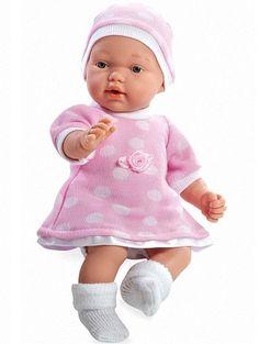 Arias Elegance в розовом платье и шапочке 28 см