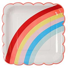 Rainbow Party Supplies Rainbow Birthday Party Theme Paper Plates Pak of Pak of x Rainbow paper plates. Have a rainbow birthday party. These rainbow paper plates will carry out your rainbow party theme. Matching paper napkins and paper cups are available.