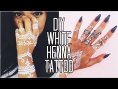 How to make white henna - YouTube