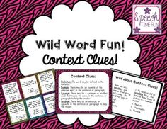 Practice using context clues strategies with this activity created for upper elementary and middle school students. This resource includes a card game, a visual, and a review worksheet, so it makes a great resource for practicing context clues using tier 2 vocabulary words! NOTE: This product is included in my Context Clues Bundle.