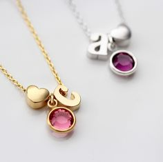 Easter Sale is happening today and Tuesday! Use code EGGS20 at checkout for 20% off your purchase  Shown: Heart/Birthstone/Initial Necklace, available in children, teen, and adult sizes.