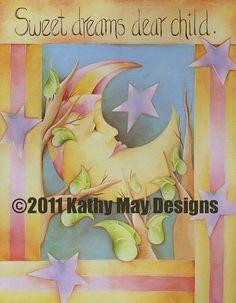 Baby Girl Art Baby Nursery Room Decor Baby Pink by KathyMayDesigns, $150.00