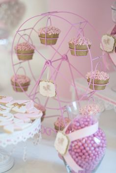 Sweets from a Pink Carousel Birthday Party via Kara's Party Ideas! KarasPartyIdeas.com (17)