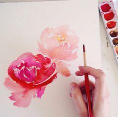 Stationery Designer & Artist / Mon Vior / Watercolour Florals