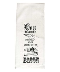 Look at this 'Love Gives Us Bacon' Flour Sack Hand Towel - Set of Two on #zulily today!