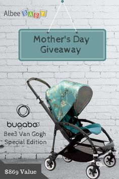 Happy Mother's Day from Albee Baby! To celebrate and show our love to all of our loyal Albee Baby followers, we are giving away one Bugaboo Bee3 + Van Gogh Special Edition Stroller!  This Mother's Day we want you to help us show how important mothers are on their special day. That's what this giveaway is all about! So Repin this image, and then enter by clicking on our 'Mother's Day Giveaway' tab on Facebook.  There are six ways to enter and you have until 11:59 PM EST on May 10th. Share…