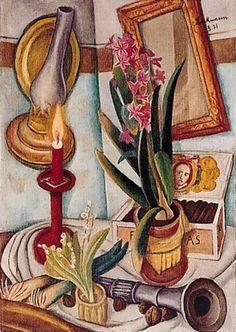 Max Beckmann - Stilleben mit Kerzen